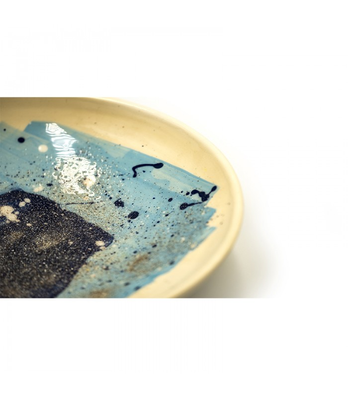 Charming ceramic handmade plate
