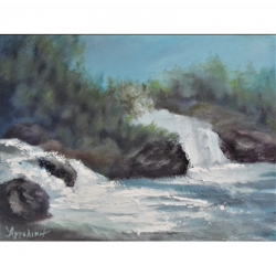 Waterfalls - painting by...