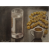 Time for coffee - painting by Angeliki - 15x20 cm