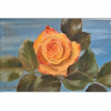 Tiny little beauty - painting by Angeliki - 12x18 cm