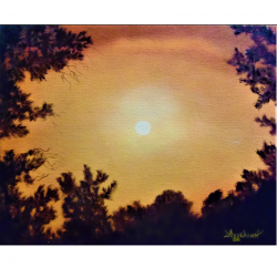 Golden sky - painting by...