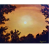 Golden sky - painting by Angeliki - 30x24 cm