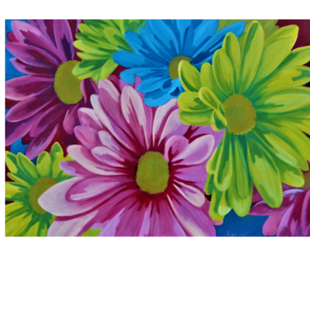 Color blooming - painting by Angeliki - 50x70 cm