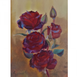 Branch of roses - painting...