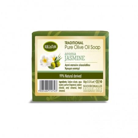 Pure Olive Oil Soap Jasmine - 100g - Kalliston