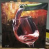 Fire wine - painting by Angelina - 50x70 cm