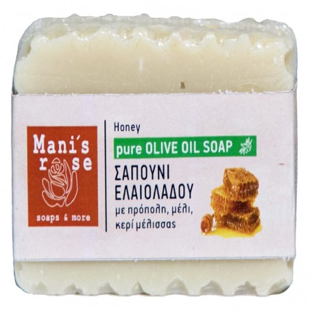 Olive Oil Soap with Honey - by Manis Rose - 100g