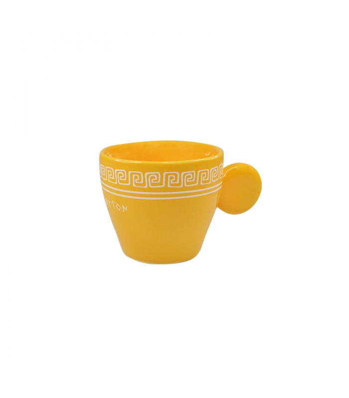Ceramic yellow espresso cup