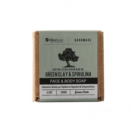 Face and body soap - Greenclay - by Olive Secret - 100gr