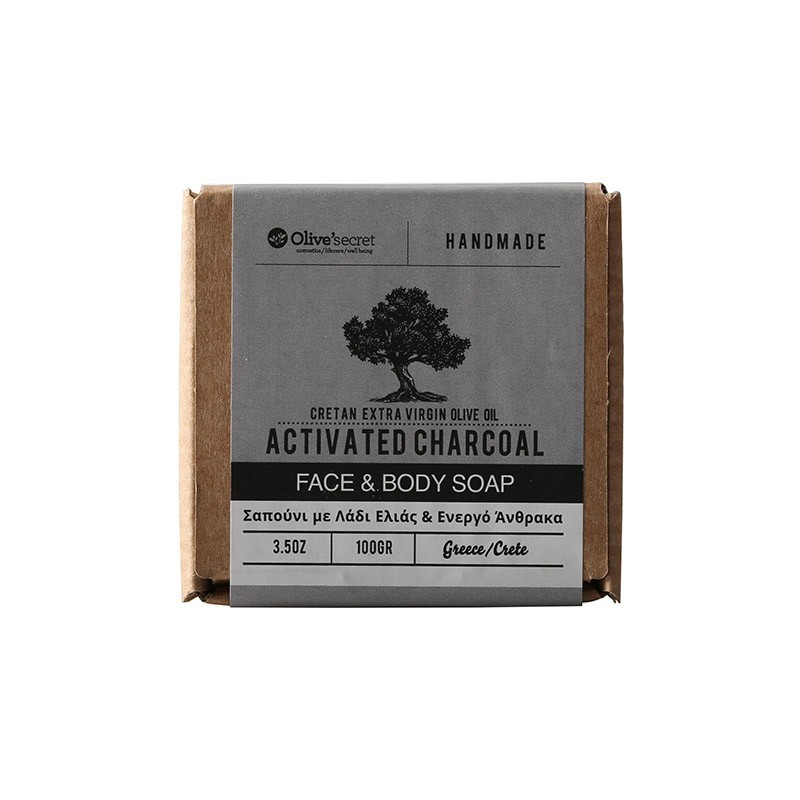 Face and body soap - activated charcoal - Olive Secret - 100g
